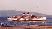 Paddle Steamer 'Waverley' leaving Rothesay Harbour, Scotland