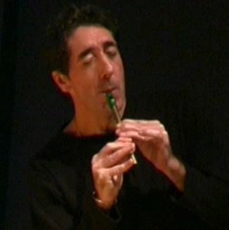 Davy on tin whistle